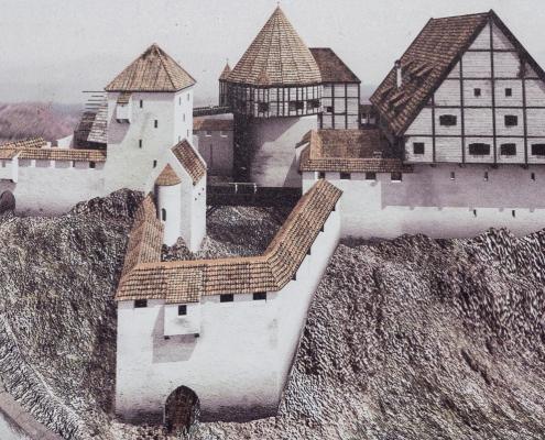 Burg Rekonstruktion